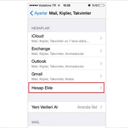 iPhone & iPad için E-Posta Hesabı Kurulumu Resimli Anlatım