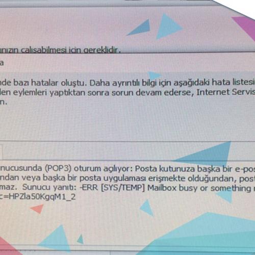 Yandex Mail Posta Kutunuz Geçici Olarak Kullanılamaz Hata Çözümü